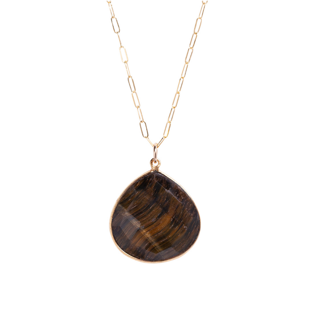 Long Tiger's Eye Necklace