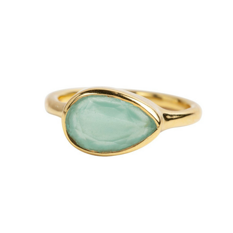 Teardrop Ring in Chalcedony