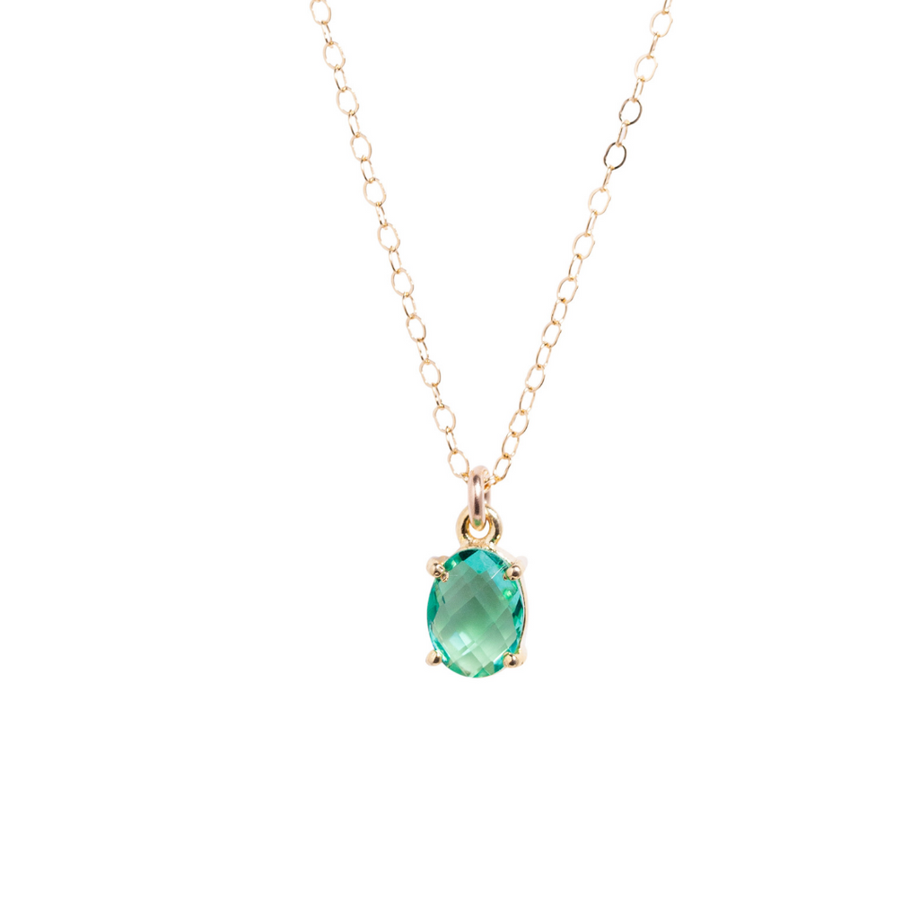 Oval Topaz Necklace