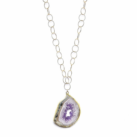 Amethyst Geode Ana Necklace