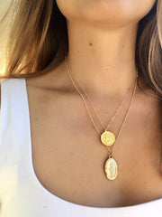 Aquarius Zodiac Necklace in Gold-Necklaces-Waffles & Honey Jewelry-Waffles & Honey Jewelry