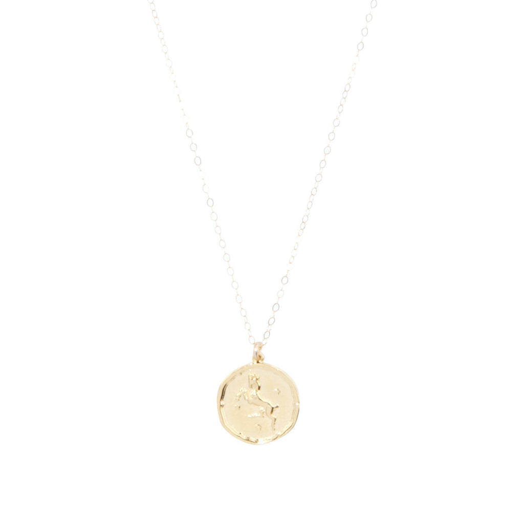 Aries Zodiac Necklace in Gold-Necklaces-Waffles & Honey Jewelry-Waffles & Honey Jewelry