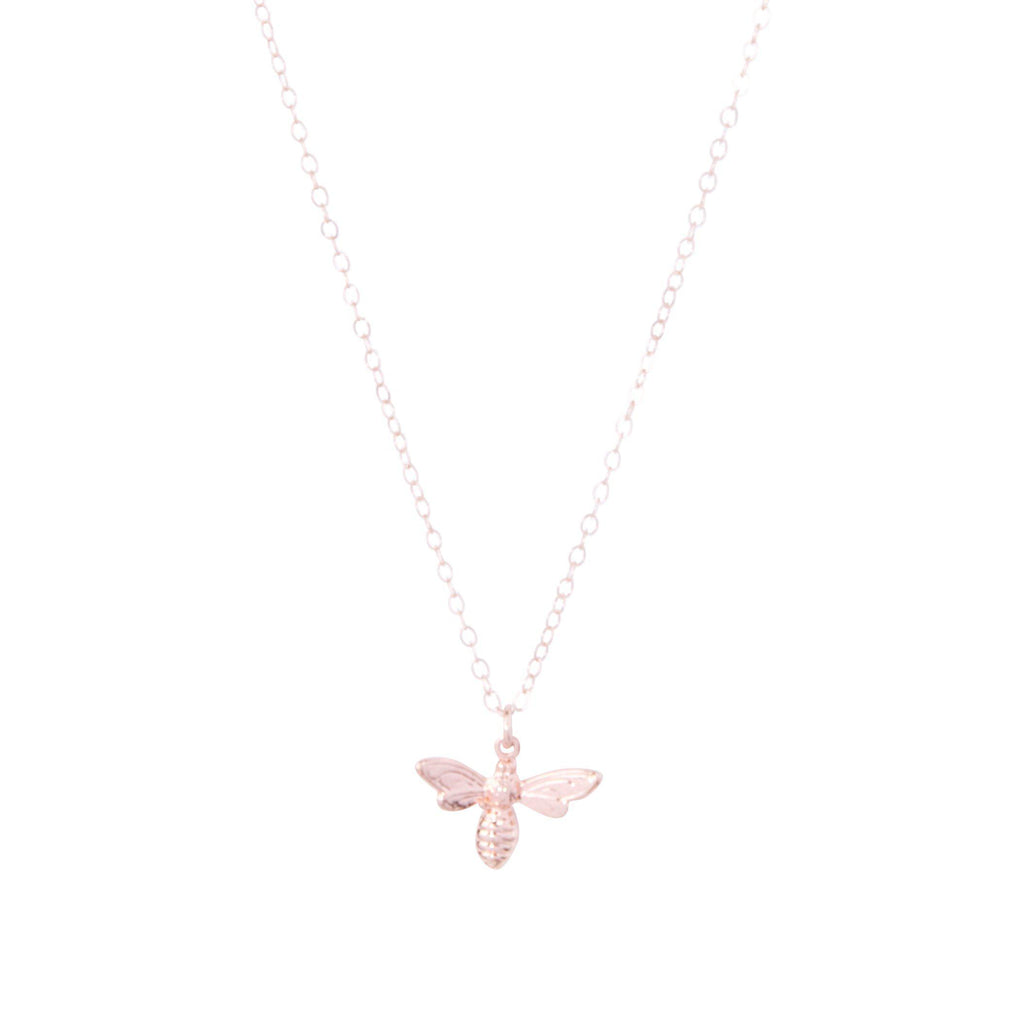 Bee Necklace in Rose Gold-Necklaces-Waffles & Honey Jewelry-Waffles & Honey Jewelry