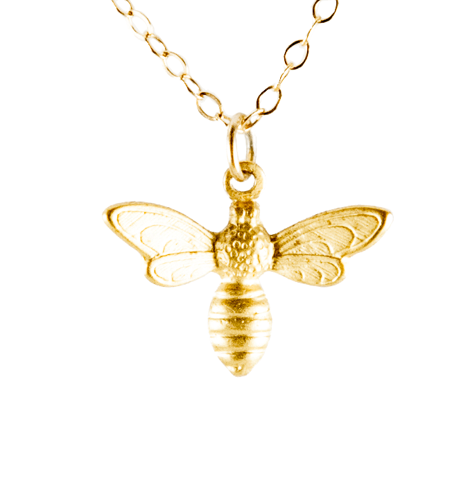 Bee Necklace-Necklaces-Waffles & Honey Jewelry-Waffles & Honey Jewelry
