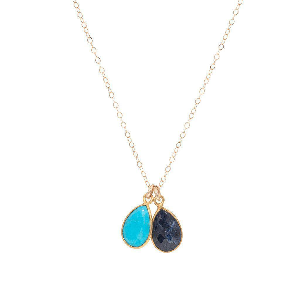 Birthstone Necklaces in Gold-Necklaces-Waffles & Honey Jewelry-Waffles & Honey Jewelry