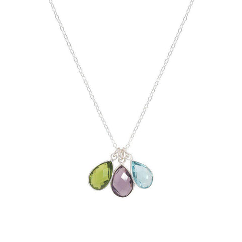 Birthstone Necklaces in Silver