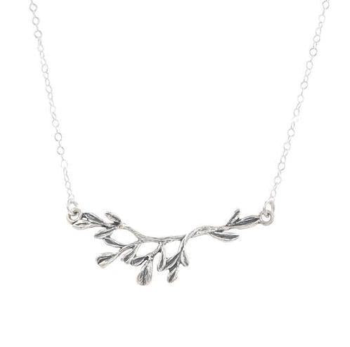 Branch Necklace in Silver-Necklaces-Waffles & Honey Jewelry-Waffles & Honey Jewelry