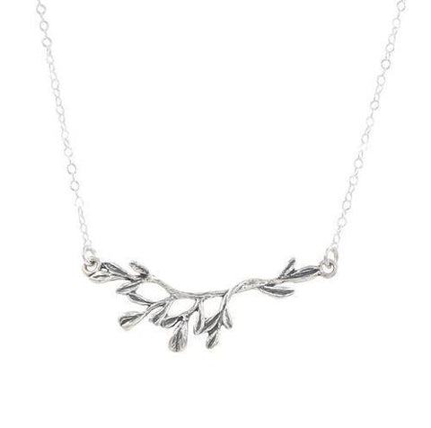 Branch Necklace in Silver