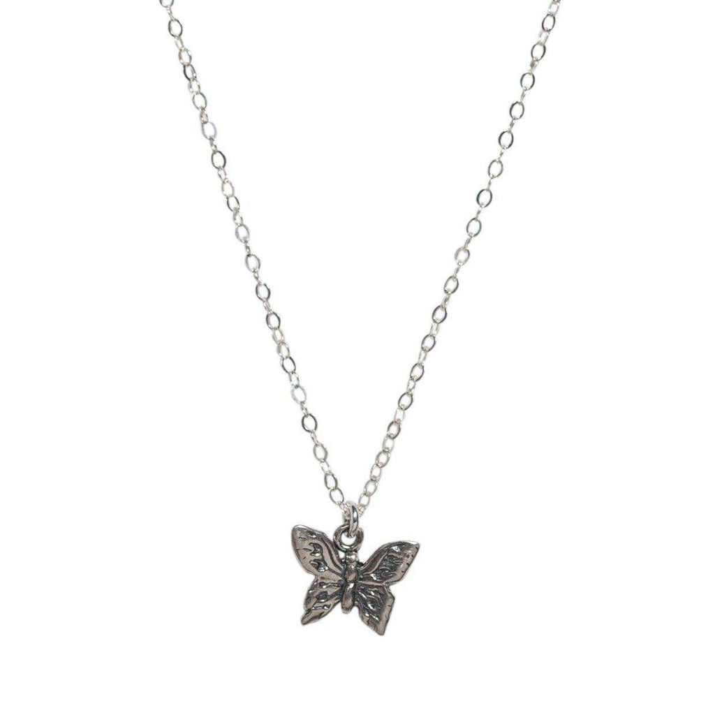 Butterfly Necklace in Silver-Necklaces-Waffles & Honey Jewelry-Waffles & Honey Jewelry