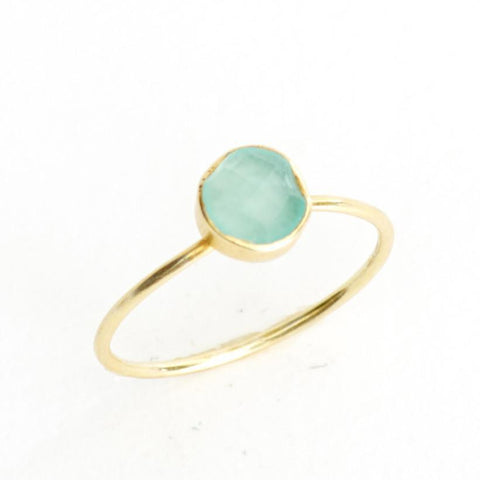 Chalcedony Circle Stacking Ring