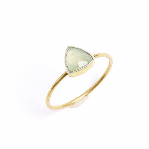 Chalcedony Triangle Stacking Ring