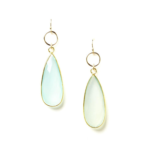 Claire Earrings in Chalcedony