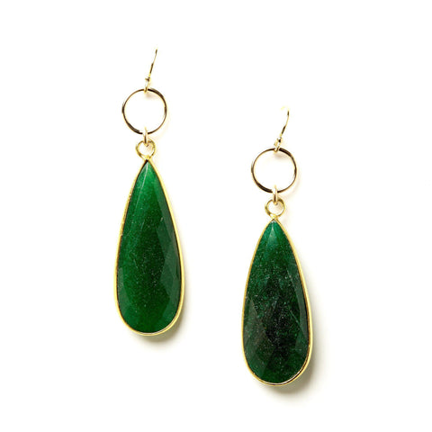 Claire Earrings in Emerald