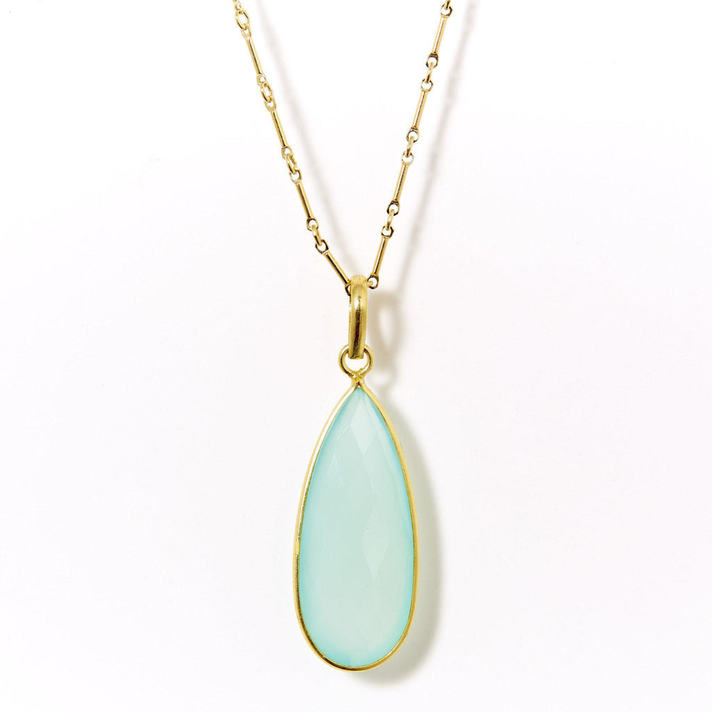 Claire Necklace in Chalcedony-Necklaces-Waffles & Honey Jewelry-Waffles & Honey Jewelry
