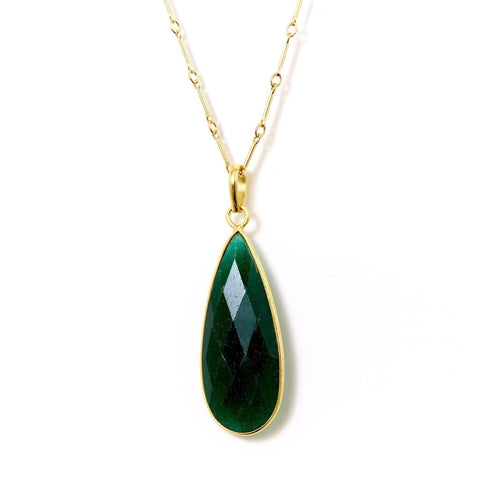 Claire Necklace in Emerald
