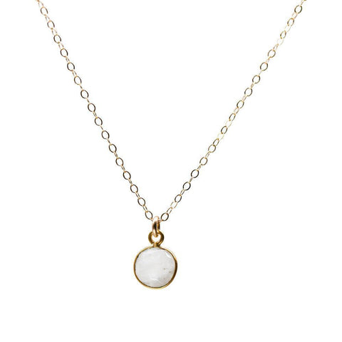 Coin Necklace in Moonstone