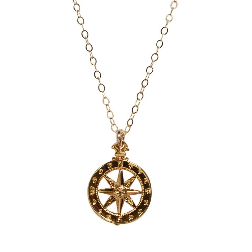 Compass Rose Necklace - Waffles & Honey Jewelry