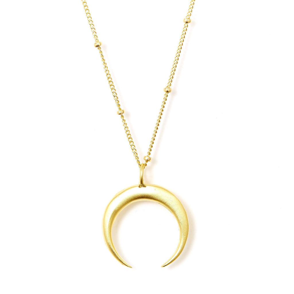 Crescent Necklace in Gold-Necklaces-Waffles & Honey Jewelry-Waffles & Honey Jewelry