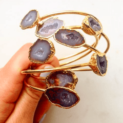 Dark Amethyst Geode Bracelet-bracelet-Waffles & Honey Jewelry-Waffles & Honey Jewelry