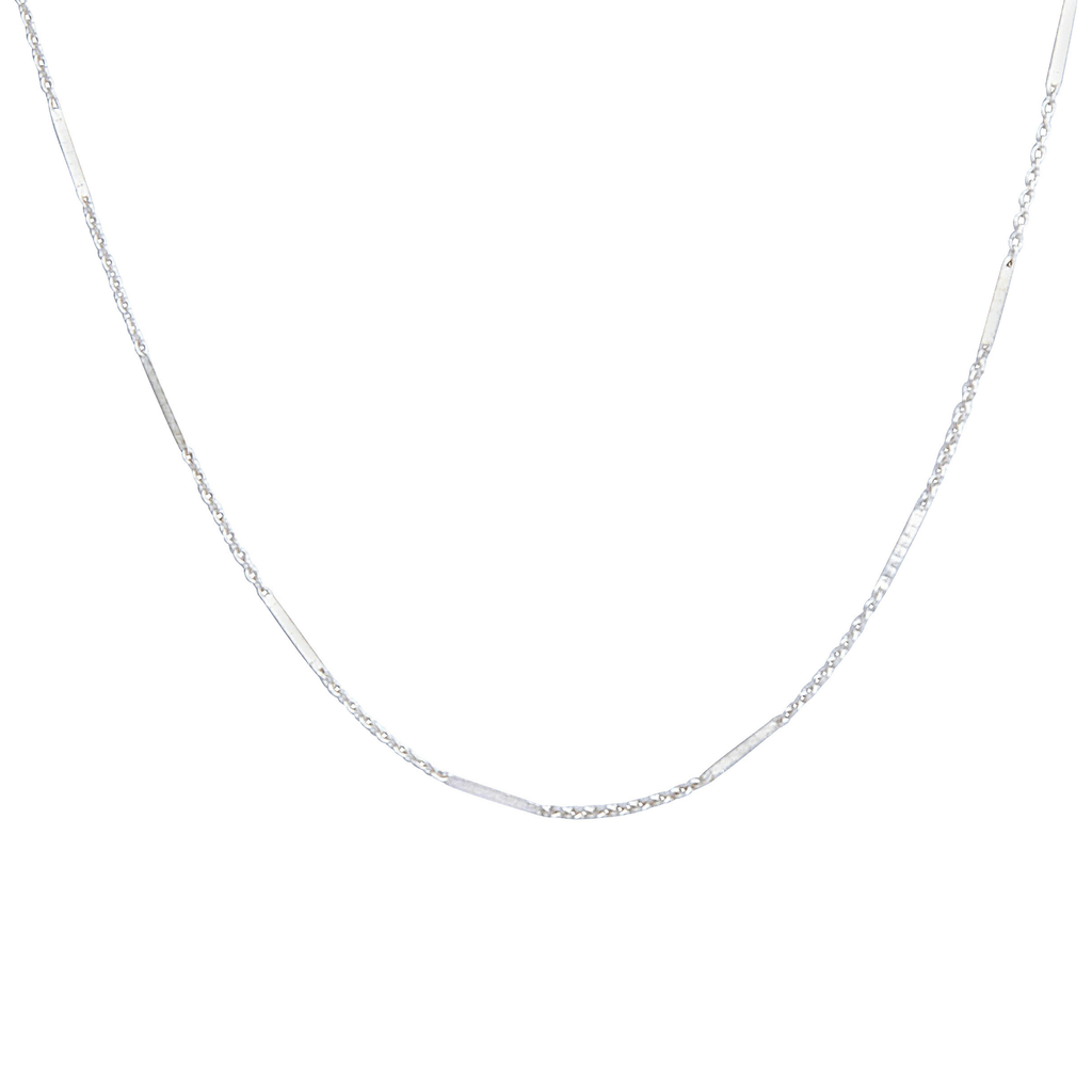 Dash Chain Choker in Silver-Necklaces-Waffles & Honey Jewelry-Waffles & Honey Jewelry