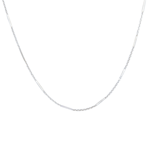 Dash Chain Choker in Silver