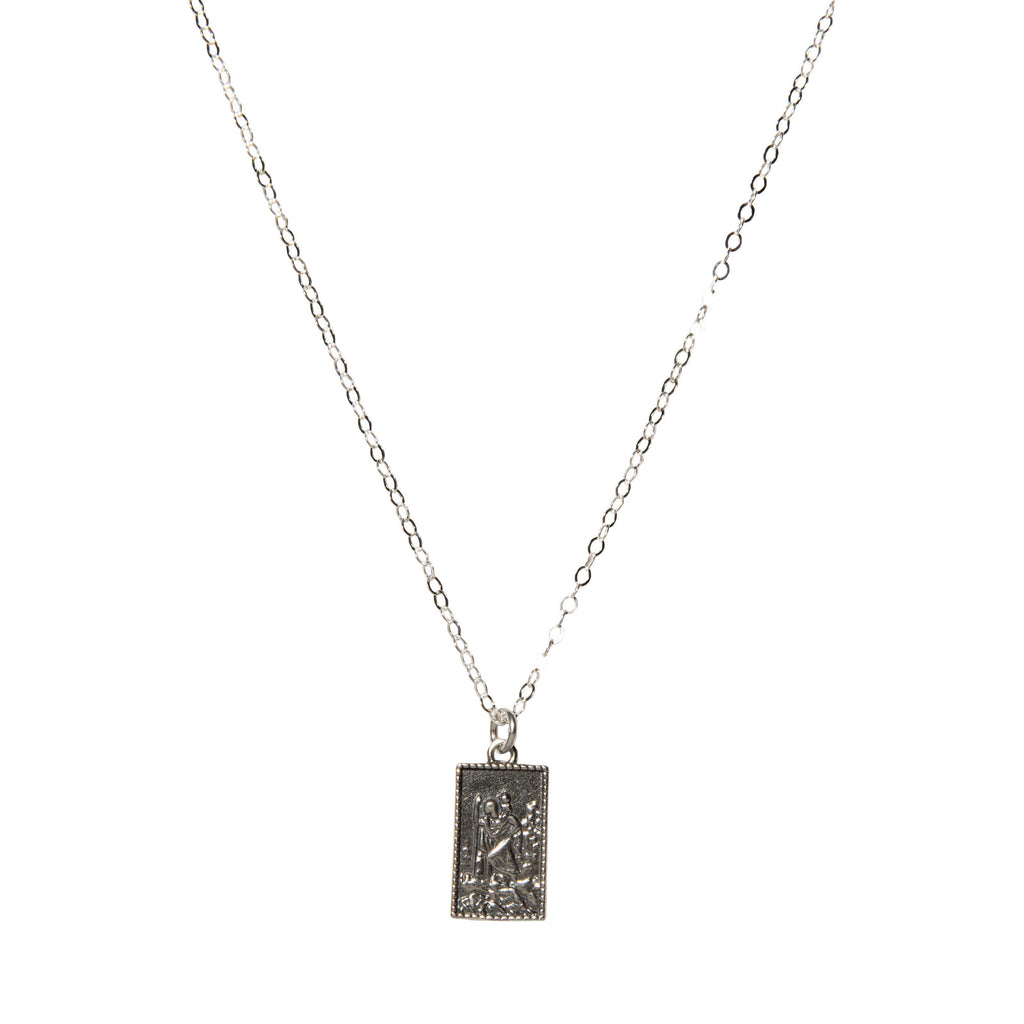 Elena Rectangle Necklace in Silver-Necklaces-Waffles & Honey Jewelry-Waffles & Honey Jewelry