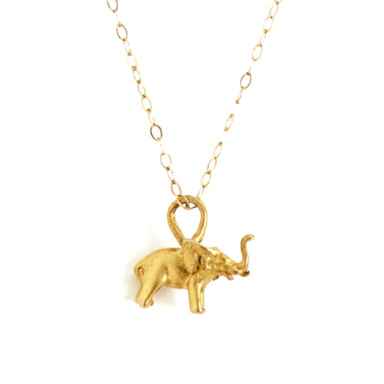 Elephant Necklace-Necklaces-Waffles & Honey Jewelry-Waffles & Honey Jewelry