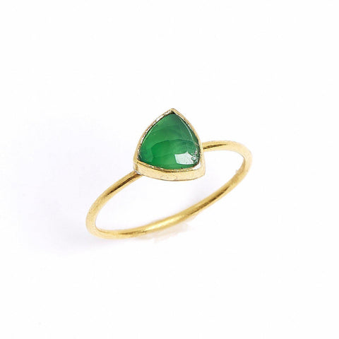 Emerald Triangle Stacking Ring
