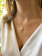 Erin Shaker Necklace in Moonstone-Necklaces-Waffles & Honey Jewelry-Waffles & Honey Jewelry