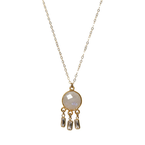 Erin Shaker Necklace in Moonstone
