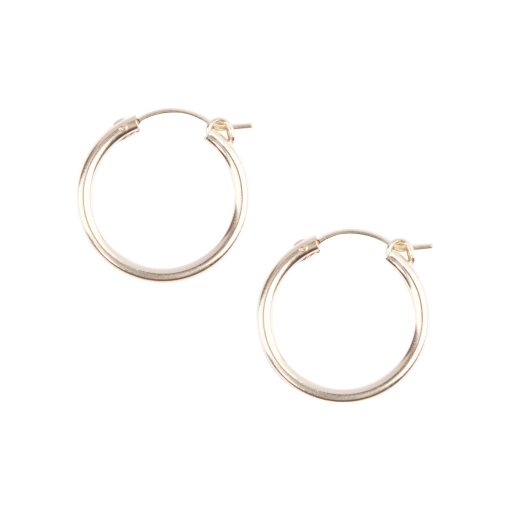 Essential Hoops in Gold-Earrings-Waffles & Honey Jewelry-Waffles & Honey Jewelry