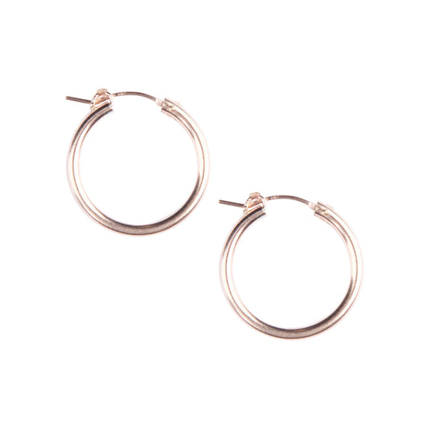 Essential Hoops in Rose Gold
