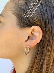 Essential Hoops in Silver-Earrings-Waffles & Honey Jewelry-Waffles & Honey Jewelry