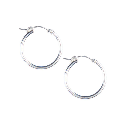 Essential Hoops in Silver