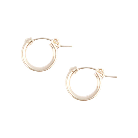 Essential Hugging Hoops in Gold