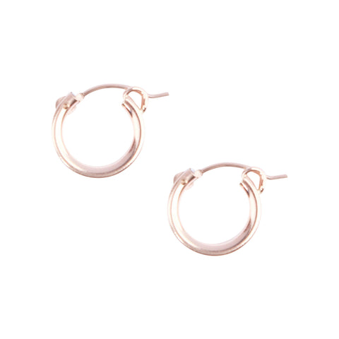 Essential Hugging Hoops in Rose Gold