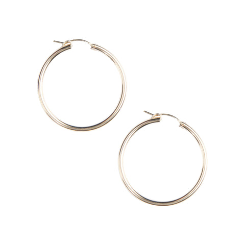 Essential Venti Hoops in Gold