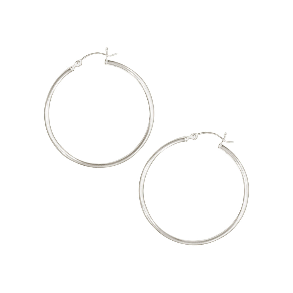 Essential Venti Hoops in Silver-Earrings-Waffles & Honey Jewelry-Waffles & Honey Jewelry