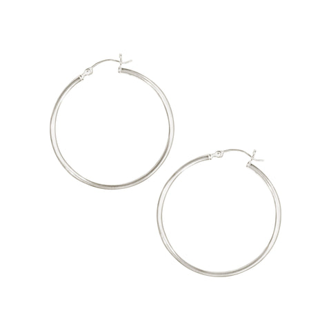 Essential Venti Hoops in Silver
