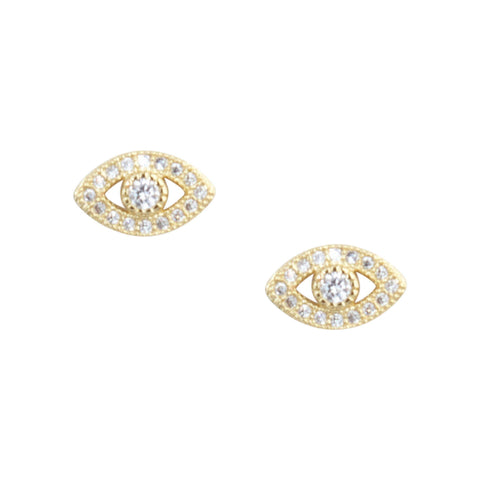 Evil Eye Studs in Gold
