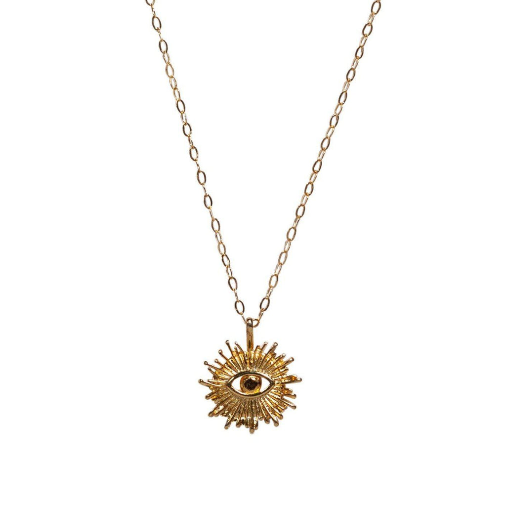Eye of Ra Necklace in Gold-Necklaces-Waffles & Honey Jewelry-Waffles & Honey Jewelry