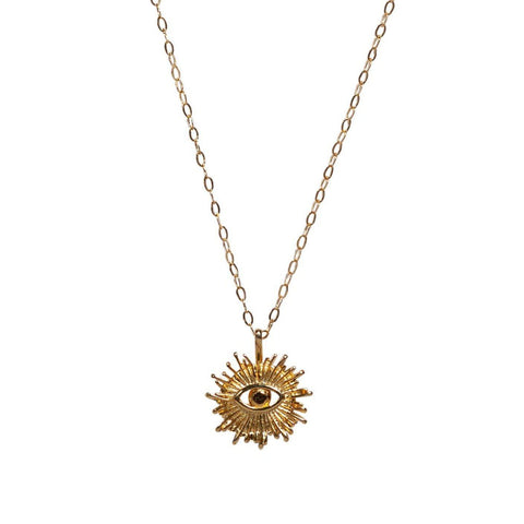 Eye of Ra Necklace in Gold