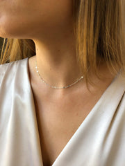 Figaro Choker in Silver-Necklaces-Waffles & Honey Jewelry-Waffles & Honey Jewelry