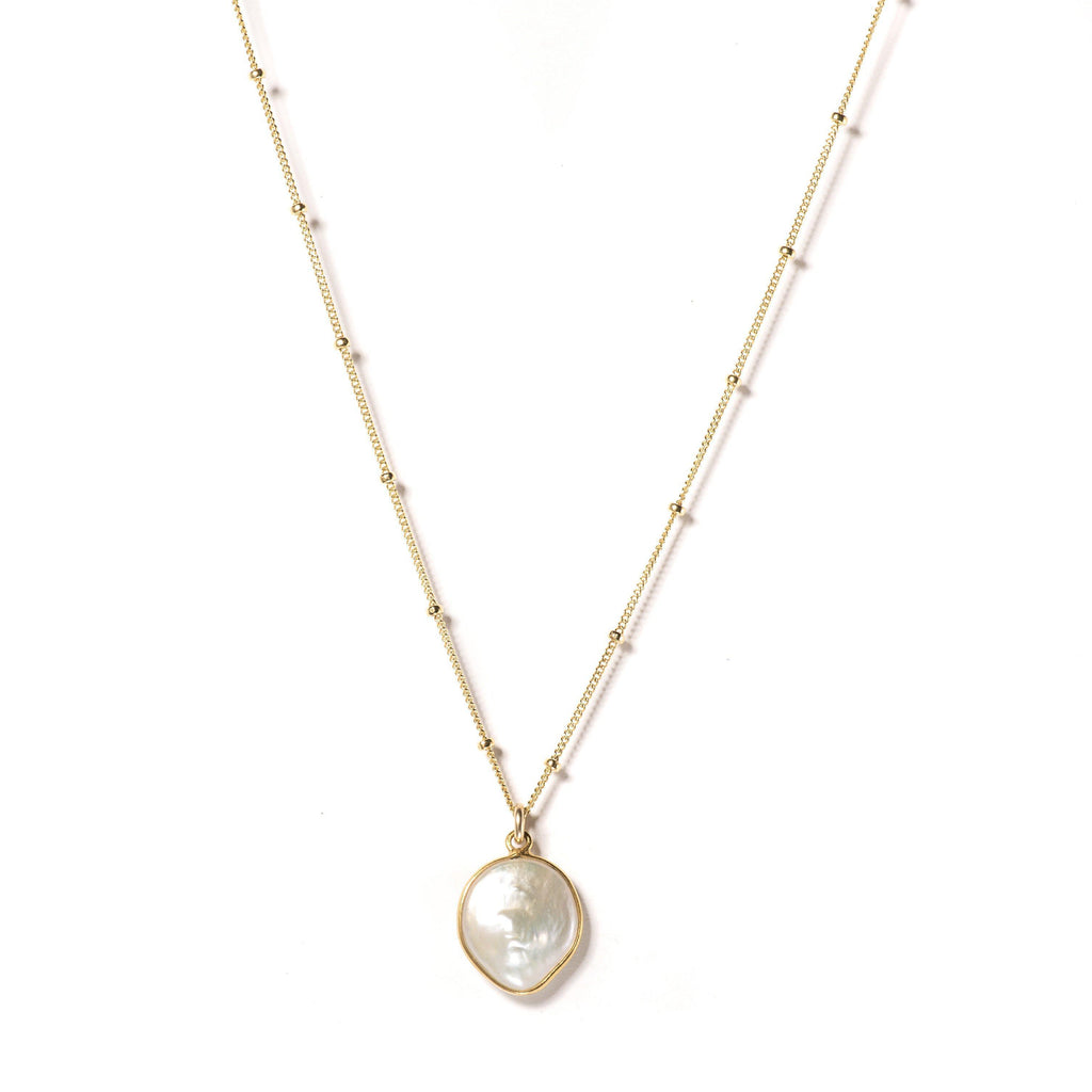 Freeform Freshwater Pearl Necklace-Necklaces-Waffles & Honey Jewelry-Waffles & Honey Jewelry