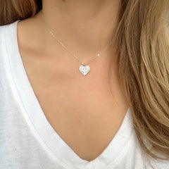 Frieda Heart Choker in Silver-Necklaces-Waffles & Honey Jewelry-Waffles & Honey Jewelry