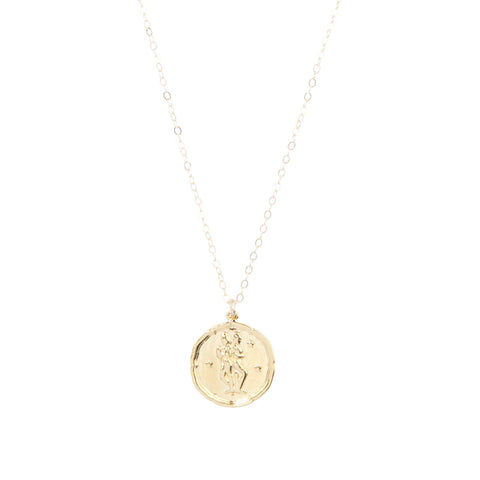 Gemini Zodiac Necklace in Gold