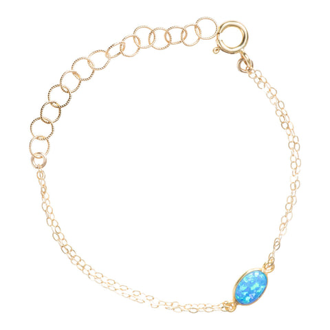 Gemstone Bracelet in Blue Opal