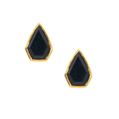Gemstone Diamond Studs in Onyx