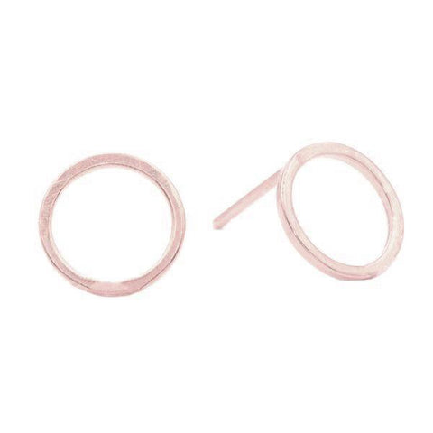 Geometric Circle Studs in Rose Gold