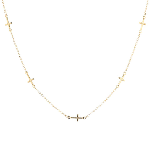 Gold Cross Choker